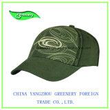 Casquillo verde oliva promocional del deporte del Special 3D Embrodiery de la manera