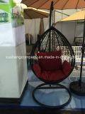 普及した屋外のテラスのハングの卵の振動椅子