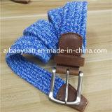 Растянутый голубой эластичной ткани без ворса String экранирующая оплетка ремень