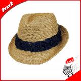 라피아 야자 밀짚 중절모 모자, 여자 모자