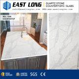 Polished слябы камня кварца для проектировано/кухни с твердым поверхностным строительным материалом