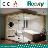 6mm de vidrio templado para el panel de ducha
