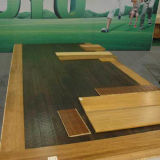 T & G Laca UV Carbonizado de suelo de bambú horizontal