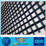 Preiswertes dehnbares Stärken-Fiberglas Geogrid für die Verstärkung/dehnbares Stärken-Polyester zweiachsig