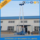 Электрическая телескопичная по вертикали гидровлическая обязанность 6m 100kg света оборудования подъема человека