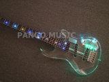 Гитара шнуров Acrylic 5 Pango басовая с прозрачными акриловыми телом & головкой, светом СИД (PBL-003)
