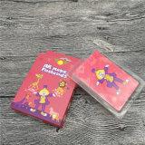 Impressão de papel personalizada dos cartões de jogo dos cartões educacionais das crianças