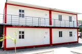 生存のためのカスタマイズされた赤いカラープレハブの容器の家