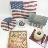 Muy buen precio de antigüedades de madera de calidad de la placa de pared de bandera de EE.UU.