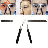 De Make-up die van de Heerser van het Saldo van de Wenkbrauw van het Roestvrij staal van Microblading Hulpmiddel meten