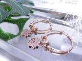 Het nieuwe Ontwerp van Juwelen 18K nam de Gouden Oorringen van de Klaver van de Manier toe