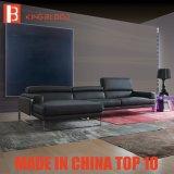 Recliner moderno con el sofá de cuero puro del sofá del color para la sala de estar