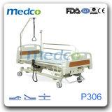 Factory Direct Hospital lit électrique mobile sur trois fonctions pour prendre soin du patient