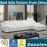 Prezzo all'ingrosso L sofà del cuoio di colore del caffè di figura (B. 911)