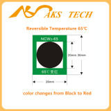 A etiqueta em mudança da temperatura da cor do calor para a soldadura pré-aquece o equipamento