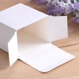La tarjeta blanca de papel normal de las pequeñas cajas plegables para Cosmética/embalaje del producto