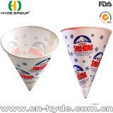 Бумажный конус чашки в форме для питья и бумажный конус чашки