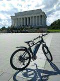 Aluminiumrahmen-Schwarz-Farben-Gebirgselektrisches Fahrrad kommen mit Lithium-Batterie