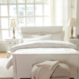 Malasia Pure/blanco 200TC-1800TC 100% algodón almohadón de conjunto de ropa de cama