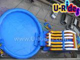 Sosta gonfiabile dell'acqua, raggruppamento gonfiabile unito con la trasparenza gonfiabile