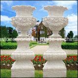 庭の石造りの植木鉢(GS-FL-111)