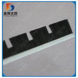 Bande brosse en nylon noir avec la forme de filaments personnalisé