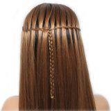 Dlme 아름다운 긴 똑바른 움츠린 끈목 합성 머리 가발