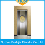 Elevatore commerciale della casa del passeggero della costruzione con l'acciaio inossidabile dell'oro della Rosa