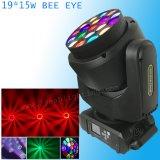 grosses der Bienen-19X15W bewegliches Hauptlicht Augen-Träger-des Summen-LED
