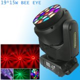 19X15W 큰 꿀벌 눈 광속 급상승 LED 이동하는 맨 위 빛