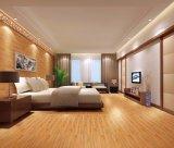 Azulejo de madera de la porcelana de la mirada de la impresión de Gital del color rojo para el dormitorio