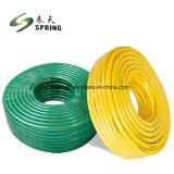 PVC tressé en plastique renforcé de fibre flexible hydraulique de l'eau Durit du tuyau d'irrigation de jardin