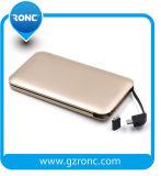 Batería incorporada 8000mAh de la potencia del cable del regalo promocional