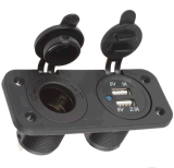 Два порта USB 3.1A мотоциклов автомобильное зарядное устройство разветвитель гнезда прикуривателя адаптер питания для мобильных телефонов на выходе iPod