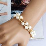 Catena del collo della collana degli accessori della signora Diamond Halloween Costume Party della perla dell'oro di modo