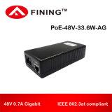 l'iniettore di Poe di gigabit 48V per il IP telefona Cameras-33.6W IEEE 802.3at