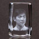 cubo della foto dell'incisione di cristallo del laser 3D per i regali di promozione