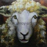 La cara de oveja a mano Pinturas al Óleo sobre lienzo para decoración del hogar