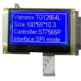 128X64 Zwart-wit LCD van de Module van de Vertoning van Stn Blauwe Grafische LCD van punten Module