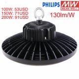 130lm/W 500Wハロゲン球根400WのメタルハライドランプLED Replacment 150W UFO高い湾LEDライト