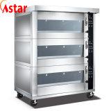 Backen-Geräten-Gas-Ofen mit drei Tellersegmenten des Fach-sechs hergestellt im China-Fabrik-Preis