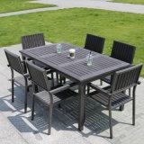 El aluminio Polywood Hotel oficina en casa Patio al aire libre la mesa de comedor y una silla (J803)