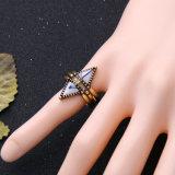 Novo Design Crystal 3 em 1 Anéis de jóias