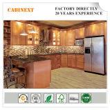 Os gabinetes de armazenamento luxuosos do console de cozinha da madeira contínua da mobília de Bisini Fábrica-Dirigem