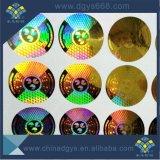 Kundenspezifischer Qualitäts-Seriennummer-Goldlaser-Aufkleber