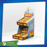 Suelo de los soportes de visualización de la cartulina del producto del chocolate para el surtidor del supermercado