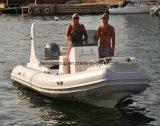 Liya 5.8m 19FT Boten van de Rib van Hull van de Glasvezel Stijve Opblaasbare