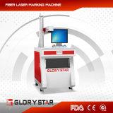 etiqueta de plástico de fibra óptica del laser del laser de 30watts Ipg para las mercancías de la cocina