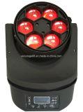 Olho principal movente da abelha do diodo emissor de luz do feixe da iluminação 6X15W do estágio mini