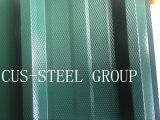 El color de la fábrica cubrió la placa de material para techos de acero del cinc/Ibr coloreado cubrir la hoja